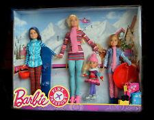 Barbie Schwestern Winterausflug 4 Puppen, Skipper, Stacie, Shelly FDR56 NEU/OVP
