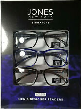 Jones New York Signature Readers Mens Glasses Black Tortoise Blue +2.50