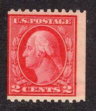 U.S. STAMP  #442 -- 2c  WASH-FRANK -- TYPE I, FLAT, p10H, w190 -- 1914 -- MINT