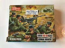 Vintage Airfix Infantería Alemana-Completo En Caja Azul del armazón 1:72