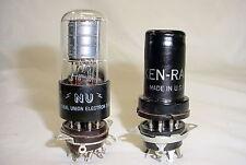 Two 6SA7GT 6SA7 Tubes - tested at NU 99% & Ken Rad 86%