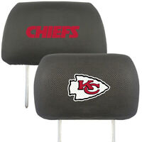 Kansas City Chiefs Embroidered  2-Pack Auto Car Truck Headrest Covers