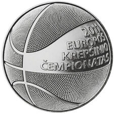 Lithuania,1 litas coin dedicated to basketball,UNC.