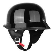 DOT German Half Face Motorcycle Helmet Chopper Cruiser Biker XL Gloss Black