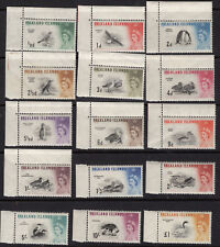 Falkland Islands BIRDS Scott 129 - 143 Mint Lightly Hinged