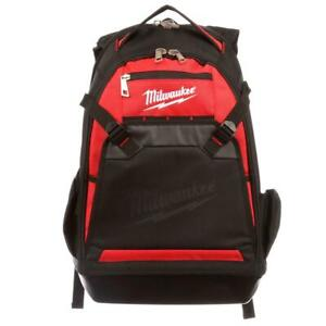 Milwaukee Tool Storage Backpack Polyester Shoulder Strap Zippered Padded Handle