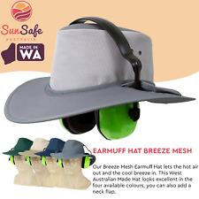 Earmuff Hat Australian Made Newcastle Hats Breeze Mesh Hat Wide Full Broad Brim