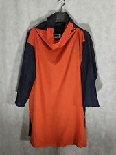 Issey Miyake 132 5 Oragami 3D Orange Shirt Dress Size 2