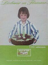 PUBLICITE MENIER PATISSIER CHOCOLAT GATEAU ANNIVERSAIRE DE 1991 FRENCH AD PUB