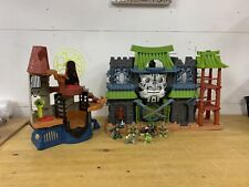 Fisher Price Imaginext Green Samurai Ninja Warrior Castle