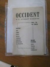 OCCIDENT MAGAZINE Fall 1956 University of California Berkeley