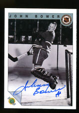 John Bower Signed 1992 Fleer Card Autographed Maple Leafs 22691