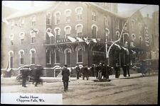 CHIPPEWA FALLS WI~1908 STANLEY HOUSE ~ HOTEL ~ MASON'S ~ Real Photo PC RPPC