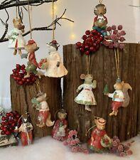 Mr & Mrs Woodland Animal Gisela Graham Christmas Tree Decoration Vintage Fox