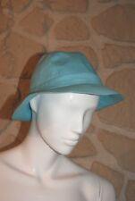 Chapeau bleu turquoise neuf marque Miss Coquine taille 57 cm