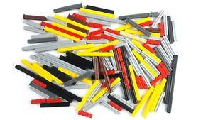 125+ New Assorted Lego Technic axles Black Grey Red Reddish brown Tan Yellow