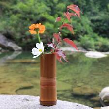 Japanese Bamboo Flower Vase For Home Decoration Handmade Traditional Accessories