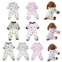 Pet Dog Pajamas Clothes Puppy Coat Jumpsuit Apparel Knitting Shirt Sleepwear