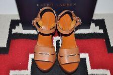 Ralph Lauren Collection Purple Label Leather High Heel Sport Sandals 8.5 B