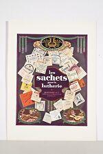 """Publicité 1930 """"les sachets pour la Lutherie"""" Baudot et Cie Paris cordes violon"""