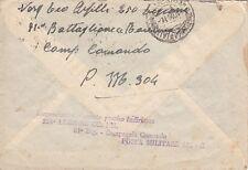 A5442) WW2 LIBIA, BOLLO 250 LEGIONE CC. NN. 81 BATTAGLIONE RAVENNA SU BUSTA.