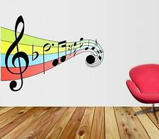 Full Colour Music Notes Wall Sticker art vinyl ,Graphics,Decal tr36