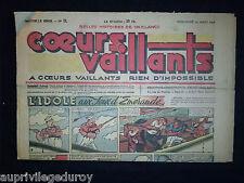COEURS VAILLANTS - 1948 - N°11  du 14 Mars - TINTIN Le Temple du Soleil -