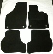 Black Tailored Car Mats for VW GOLF mk5 04 to 07 4 oval clips B1350 NEW