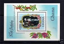 Ghana 1985 Vida Y Tiempos Reina Madre MS1143 Estampillada sin montar