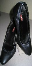 Prada CALZATURE DONNA Gray Pumps Classic Shoes Sz 8/38, Box/Dustbag/Extra Tips