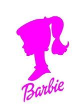 Barbie Head Word Sticker / Decal Pink - Car Cute Vinyl 160mm