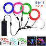 EL Wire LED Light Neon Glow String Strip Rope Tube Battery Interior Atmosphere