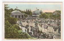 Childrens Playground Golden Gate Park San Francisco California 1920c postcard