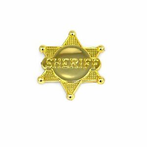 Gold Sheriff Badge County Police Party Bag Filler Fancy Dress Party Accessories