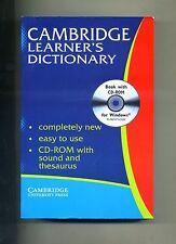 CAMBRIDGE LEARNER'S DICTIONARY # Cambridge University Press 2001 1A ED. AN