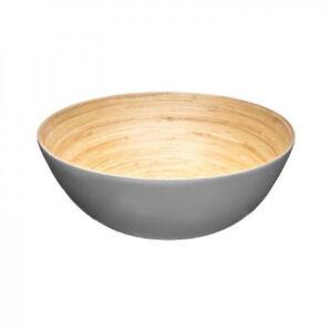 Salatschale Salatschüssel Schüssel aus Bambus Bamboo Bowl Naturprodukt 25 cm