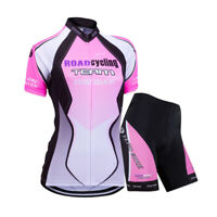 Women's Cycling Bike Short Sleeve Clothing Bicycle Sports Wear Set/Jersey/Shorts