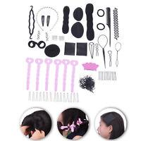 20Pcs Women Magic Braider Hair Twist Styling Clip Stick Bun Maker Braid Tool Set