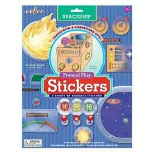 Spaceship Pretend Play Reusable Stickers - Turn a Box Into a Spaceship Toy