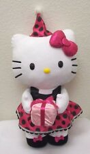 Hello Kitty Birthday Plush JUMBO Doll Party Hat Hot Pink Dress Door Greeter 24""
