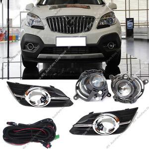 For Buick Encore 2013-2015 Front Bumper Bezel,Fog Lights Lamp,Harness Kit Assy k