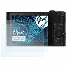 Bruni 2x Schermfolie voor Sony DSC-WX500 Screen Protector Displaybeveiliging