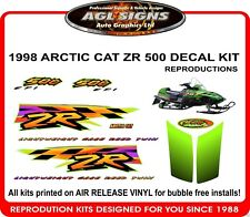 1998 ARCTIC CAT ZR 500 efi DECAL KIT , reproductions 600 440 497