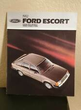 1982 Ford Escort Models Car Dealer Sales Brochure Booklet