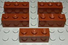Lego Platte mit Nut 1x2 new Braun 5 Stück 1621 #