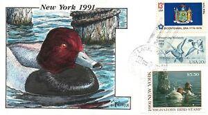 1991 Greenwood Lake New York USA Duck Stamp Milford Hand Painted First Day Cover