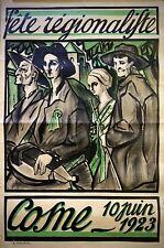Fete Régionaliste - Cosne - Poster Affiche francese originale -1923 -(Theuriau)-