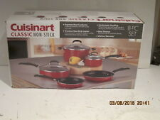 Cuisinart Classic Non-Stick 8-Piece Cookware Set-Red(57-8R)FREE SHIPPING, NISB!!