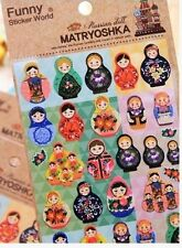 Cute Russian Doll Planner Sticker Matryoshka Funny Kids Reward KOREA Diary Gift