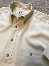 GORGEOUS CAMEL ACTIVE SAND BEIGE SHORT SLEEVE OXFORD ADVENTURER SHIRT S SMALL